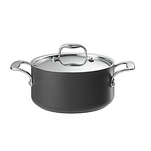 Lakeland Hard Anodised Lidded Casserole Pan 3L - 20cm