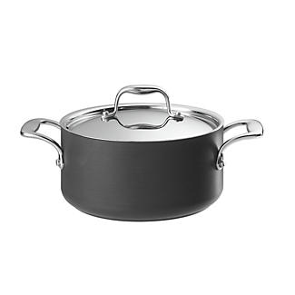 Hard Anodised 20cm Lidded Casserole Pan