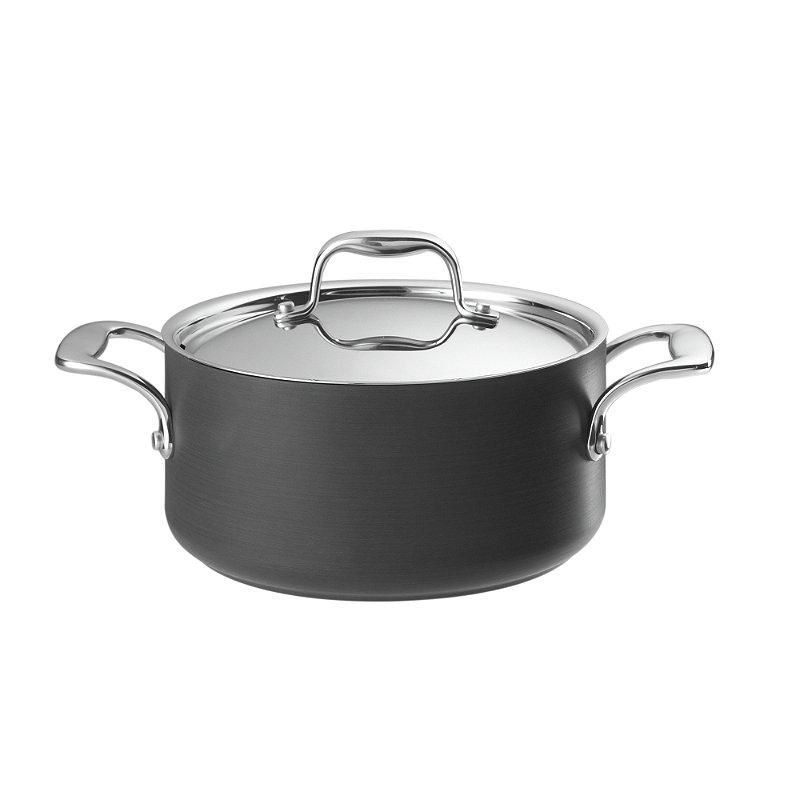 Hard Anodised 20cm Lidded Casserole Pan