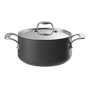 Lakeland Hard Anodised Lidded Casserole Pan 5L - 24cm