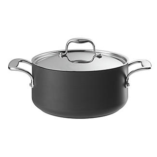 Hard Anodised 24cm Lidded Casserole Pan