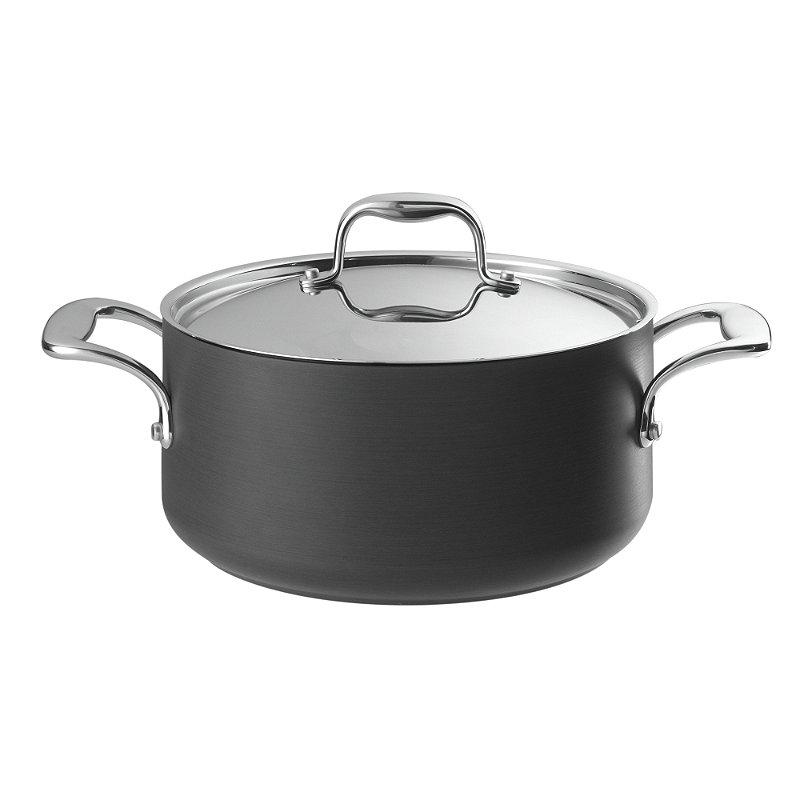 Hard Anodised 24cm Lidded Casserole Pan