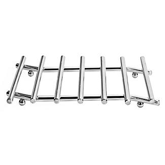 Wavy Chrome Hot Pan Trivet Rack Stand