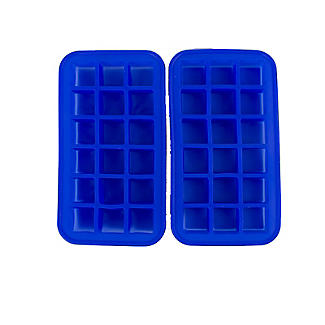 2 Silicone 18 Hole Ice Cube Freezer Trays  alt image 1