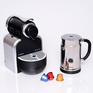 nespresso magimix m100 automatic silver in espresso coffee makers at lakeland. Black Bedroom Furniture Sets. Home Design Ideas