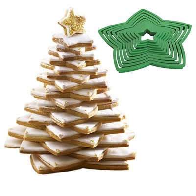 Lakeland 3D Christmas Tree 10pc Cookie Cutter Set (inc 3 ...