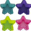 12 Silicone Starlet Moulds