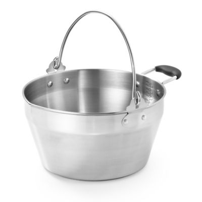 Stainless Steel Maslin Jam Pan With Handle Large 8 5 L
