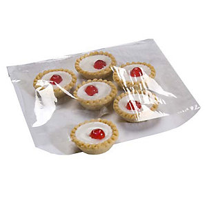 100 Cellophane Front Square Cake & Food Display Gift Bags (21.5cm)