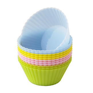 12 Silicone Pastel Cupcake Cases alt image 1