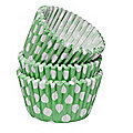 54 Green Spotty Cupcake Cases