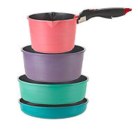 Colourful Ceramica 4pc Nesting Frying Pan Set