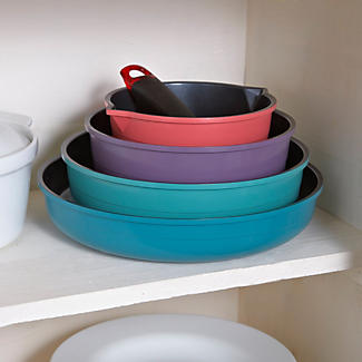 Colourful Ceramica 4pc Nesting Pan Set alt image 2
