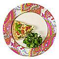 8 Paisley Ivory & Fuchsia Dinner Plates