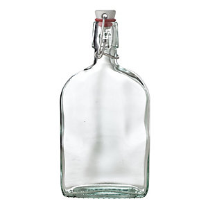 Airtight Swing Top Glass Sloe Gin Bottle & Ceramic Cap 500ml