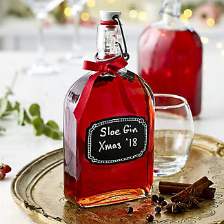 Airtight Swing Top Glass Sloe Gin Bottle & Ceramic Cap 500ml alt image 2
