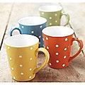 4 Dotty Mugs