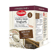 EasiYo Greek Style With Coconut Bits 1kg Yogurt Sachet Mix (4 x 250g)