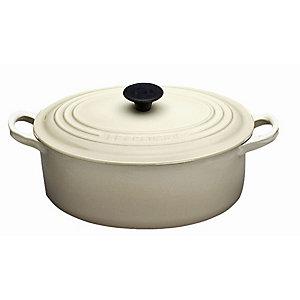 Le Creuset® 27cm Cast Iron Almond Oval Casserole