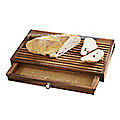No Mess Wooden Bread Board with Crumb Catcher Drawer