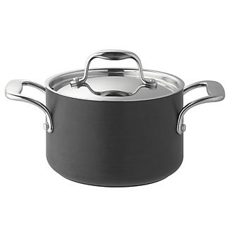 Lakeland Hard Anodised Lidded Casserole Pan 1.4L - 16cm