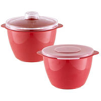 Microwave Cookware Stain Proof - 2 Red Mini