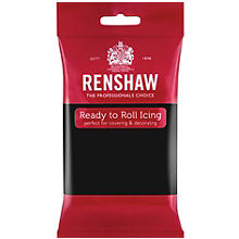 Renshaw Ready to Roll Coloured Icing - 250g Black
