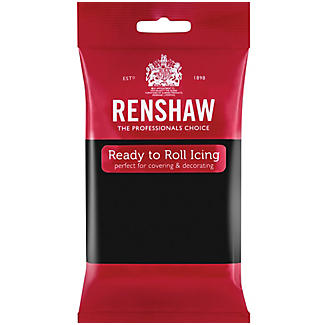 Renshaw Ready to Roll Coloured Icing - 250g Black alt image 1