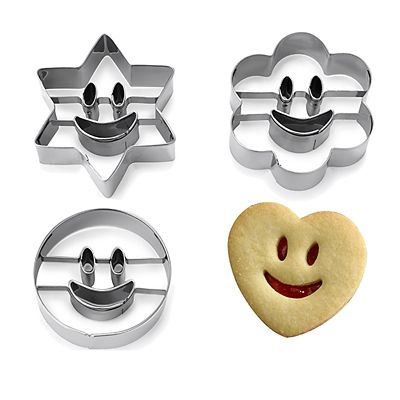 Smiley Faces Cookie Cutters Set Of 8