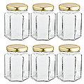 6 Hexagonal Presentation Jars