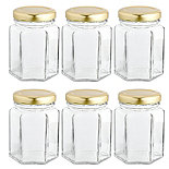 6 Hexagonal Presentation Jars