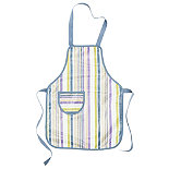 I Can Cook Childrens PVC Apron - Stripes