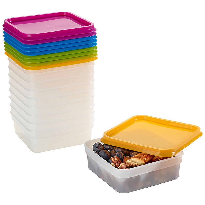 10 Stack A Bo Food Storage Containers 400ml