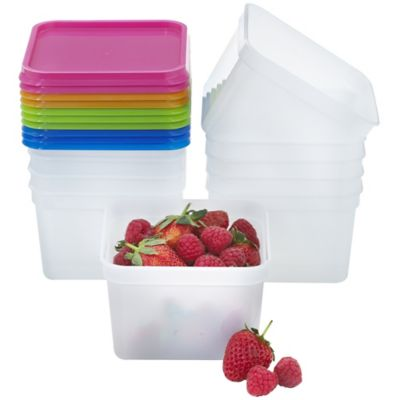 Stack A Boxes Food Storage Containers Amp Lids 750ml X 10