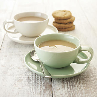 delicious. Ivory Coffee Cup with Saucer