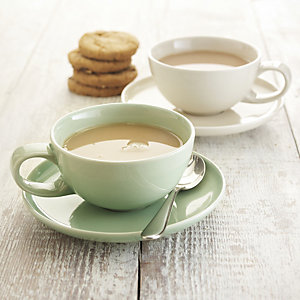 delicious. Mint Coffee Cup with Saucer
