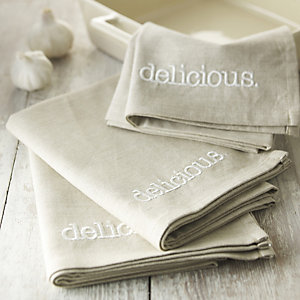delicious. 3 Piece Tea Towel Set