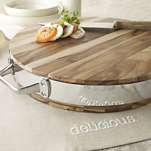 delicious. Acacia Round Chopping Board