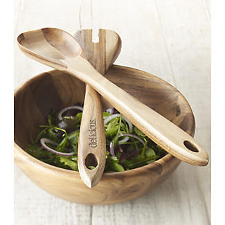 delicious. Acacia Salad Tongs alt image 1
