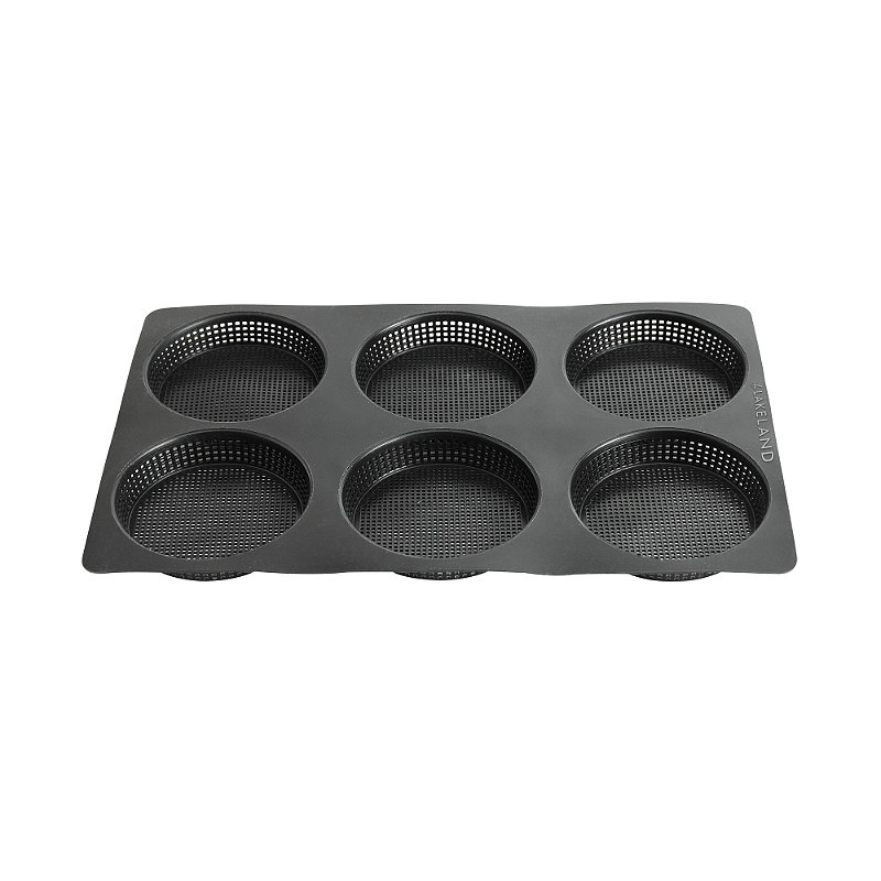Perfobake Perforated 6 Hole Tart Tin