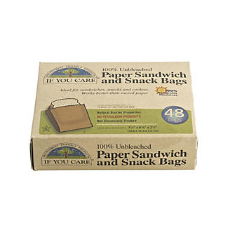 48 Traditional Brown Paper Snack & Sweets Bags