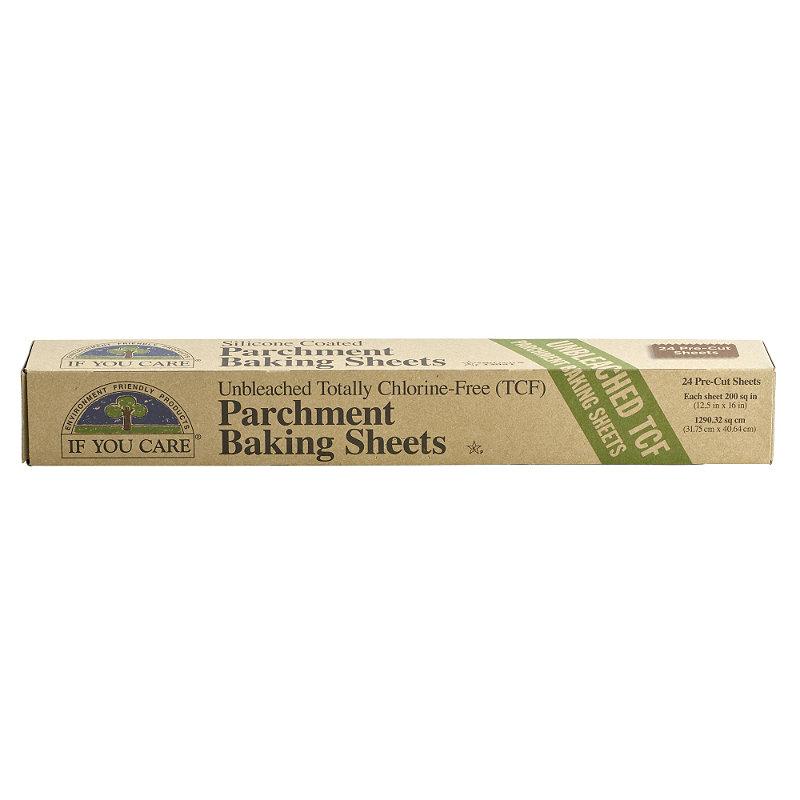 24 Unbleached Baking Parchment Paper Sheets 41cm x