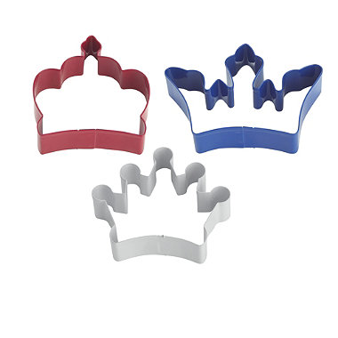 3 Crown Cookie Cutters