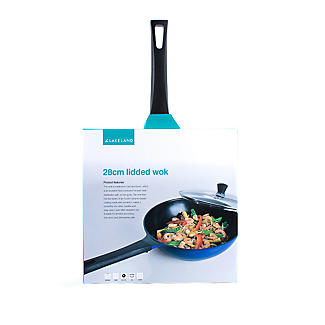 Colourful Ceramica Cookware Blue Lidded Wok - 28cm alt image 9
