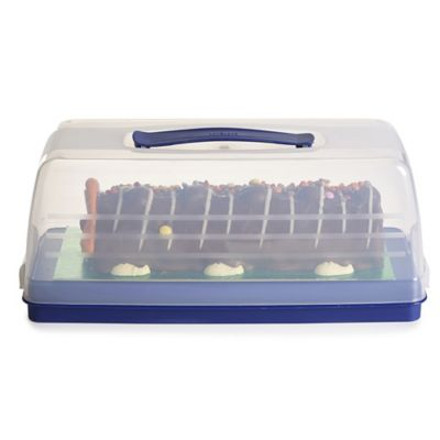 Rectangular Cake Store Carrier Caddy Amp Clear Lid