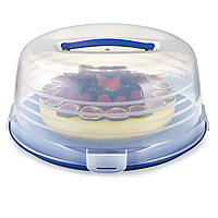 Keep Cool Cake Carrier Caddy & Clear Lid - Round Cream & Cheesecakes