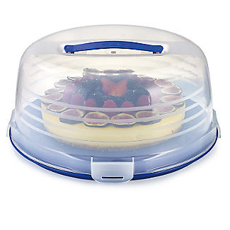 Keep Cool Cake Carrier Caddy & Clear Lid - Round Cream & Cheesecakes  alt image 1