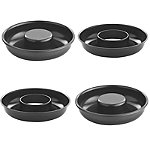 4 Mini Non Stick Savarin Cake Ring Tins