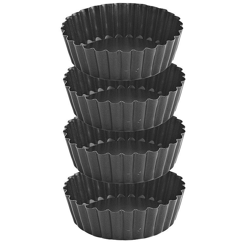 4 Small Deep Tartlet Tins