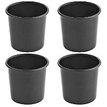 4 Non Stick Dariole Mini Pot Dessert Moulds